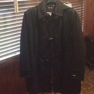NWOT black Calvin Klein winter weather jacket.